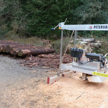 Mobile sawmilling Devon