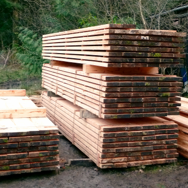 Sawn Larch timber Devon
